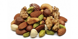 Nut consumption and reduced risk of some types of cancer
