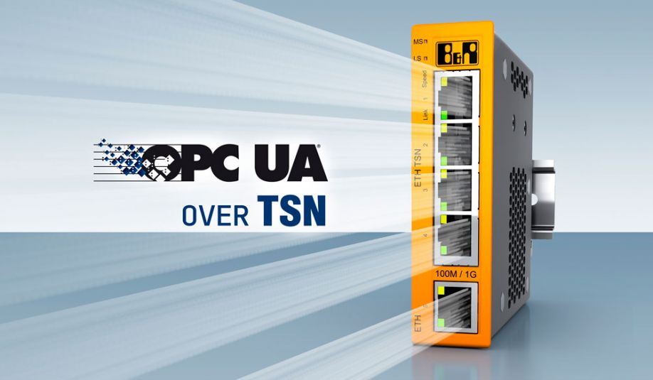 B&R is expanding its portfolio with a TSN machine switch for converged real-time networks with vendor-agnostic OPC UA over TSN communication.