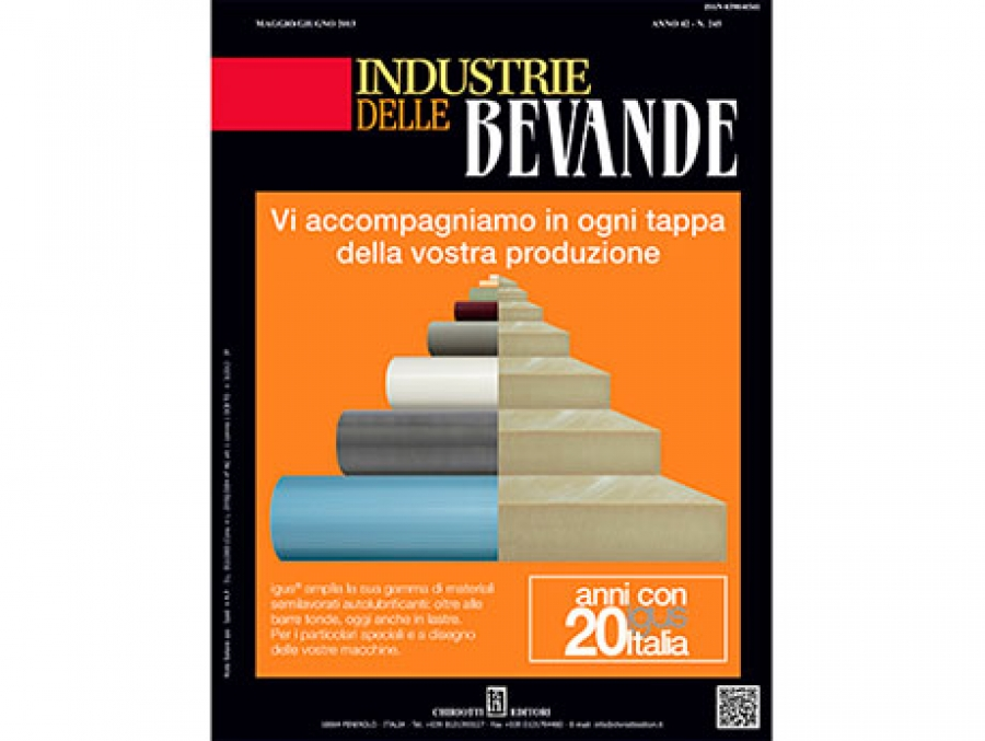 "Is now available the June issue of ""Industrie delle Bevande"""