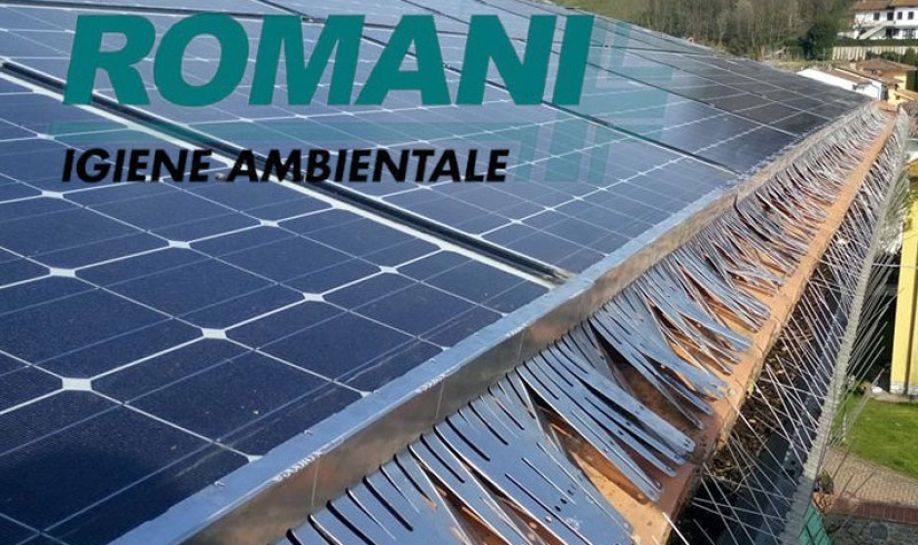 Protection system from volatiles for photovoltaic panels.