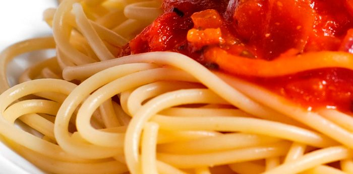 Detection of cracks in dried spaghetti