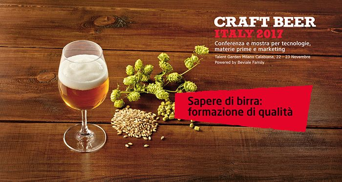 Conference and training @CRAFT BEER ITALY 22-23 November 2017