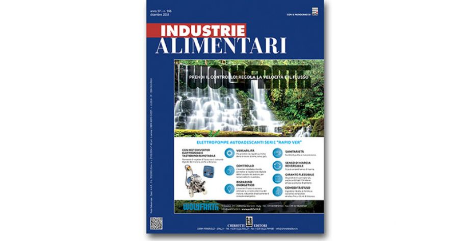 "The December Issue of ""Industrie Alimentari"" is now available"