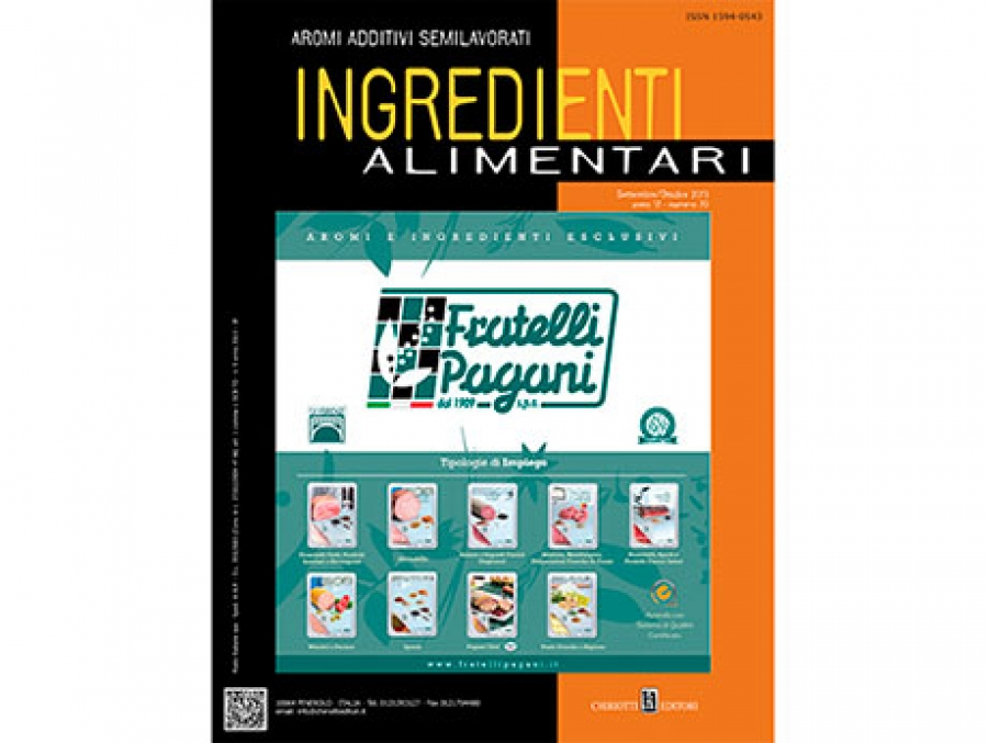 "The September-October issue of ""Ingredienti Alimentari"" is now ready"