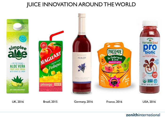Global juice drink consumption to rise by 5% a year