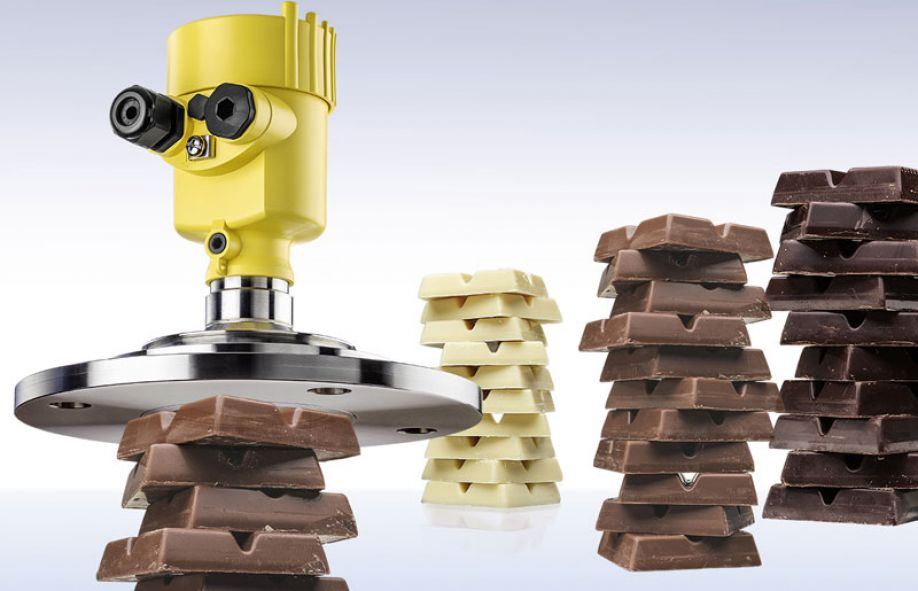 VEGAPULS 69 supplies exact measured values for reliable production of high-quality chocolate